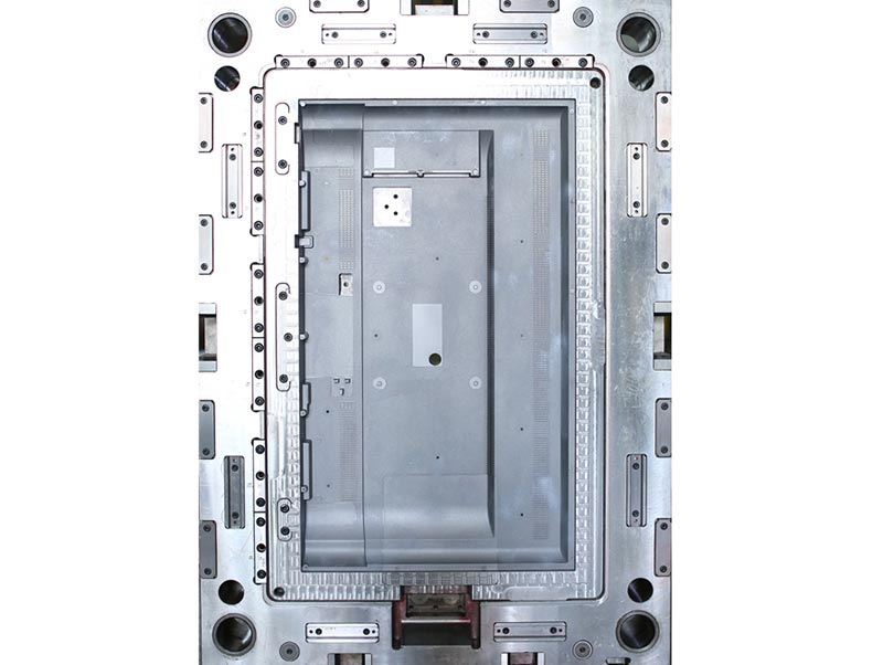 Grey Luxury Special Texture 65 Inch Tv Back Cover Mold Making Exporting To Europe Work On 1280t Plastic Mold Injection Machine