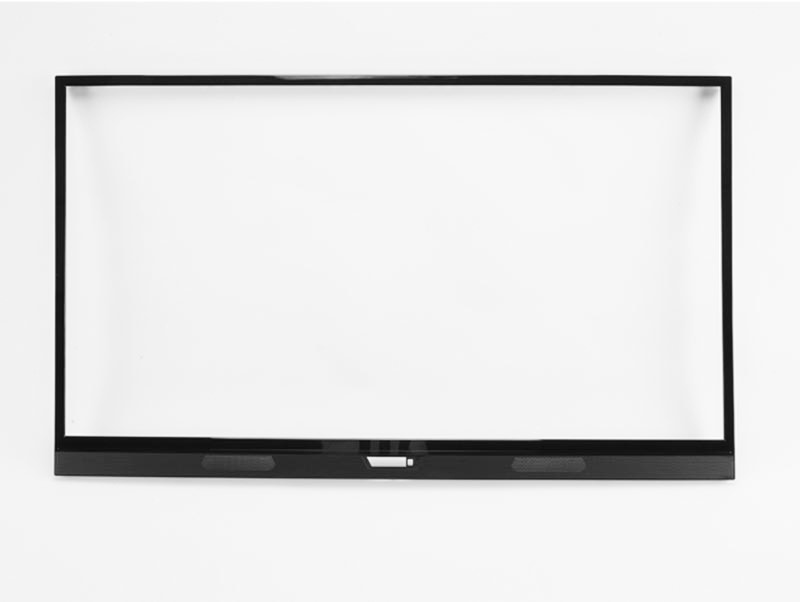 PC ABS Precision Molded Plastic Part 49 Inch Front Cover TV Set